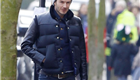 David Beckham and Harper go for a walk in London 145123