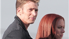 Chris Evans and Scarlett Johansson on the set of Captain America: Winter Soldier  148369