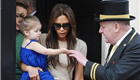 Victoria Beckham and daughter Harper out in London 147731