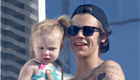 Harry Styles hangs out with friends and a baby at his hotel in Barcelona 152245
