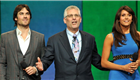 Ian Somerhalder, Mark Pedowitz, and Nina Dobrev at The CW Network's 2013 Upfront presentation 151279