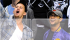 Channing Tatum and Joseph Gordon-Levitt cheer on the LA Kings, May 2012 147929