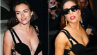 Lady Gaga wears Versace's Elizabeth Hurley safety pin dress  128376