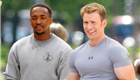 Anthony Mackie,  Chris Evans, and Scarlett Johansson film scenes for 'Captain America: The Winter Soldier' in Washington DC 150935