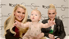 Jessica Simpson with her daughter Maxwell Johnson and sister Ashlee Simpson visit Belk Southpark Charlotte, North Carolina 144809