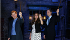 Prince William, The Duke of Cambridge, Catherine, The Duchess of Cambridge and Prince Harry visit the Warner Brother's studio in Leavesden 148021