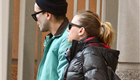 Scarlett Johansson and Romain Dauriac in the East Village in NYC on Monday 140608