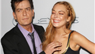 Charlie Sheen and Lindsay Lohan at the 'Scary Movie 5' premiere in Hollywood 146565