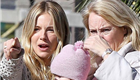Sienna Miller and her mother go for a walk with baby Marlowe in Los Angeles  136344