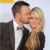 Aaron Paul and Lauren Parsekian at the 2012 Emmy Awards  127164