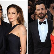Brad Pitt and Angelina Jolie/Justin Theroux and Jennifer Aniston  143660