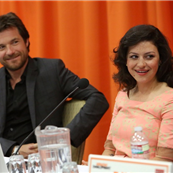 Jason Bateman and Alia Shawkat attend The Netflix Original Series 'Arrested Development' Press Conference at Sheraton Universal 150599