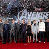 The cast of The Avengers at the Los Angeles premiere, April 2012 139029