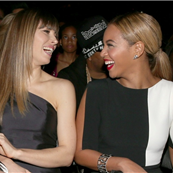 Jessica Biel and Beyonce at the 55th Annual Grammy Awards  143171