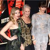 Scarlett Johannson, Helen Mirren, and Jessica Biel at the New York premiere of Hitchcock  132391