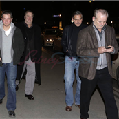 Matt Damon, John Goodman, George Clooney, and Bill Murray out for dinner in Germany  143662