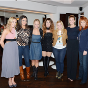 Ashley Monroe, Angaleena Presley, Miranda Lambert, Kelly Clarkson, Faith Hill and Reba McEntire join Shania Twain backstage after her performance SHANIA: STILL THE ONE at The Colosseum at Caesars Palace 145911