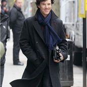 Benedict Cumberbatch and Martin Freeman in London working on Sherlock 146357
