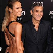 George Clooney and Stacy Kiebler at the Argo premiere 128518