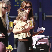 Victoria Beckham with her kids at Universal City Walk  131048