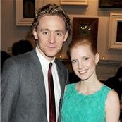 Tom Hiddleston and Jessica Chastain attend the Dreamworks Pre-BAFTA Tea Party, 2012 137088