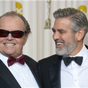 Jack Nicholson and George Clooney at the 85th Annual Academy Awards 141649