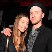 Jessica Biel and Justin Timberlake backstage after MasterCard Priceless Premieres presents Justin Timberlake at Roseland Ballroom 148994