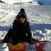 Lea Michele snowboarding in Whistler 132949