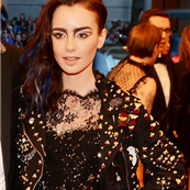 Lily Collins and Jamie Campbell Bower at the 2013 Costume Institute Gala 149479