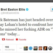 Bret Easton Ellis calls out Lindsay Lohan for bailing on ADR  129659