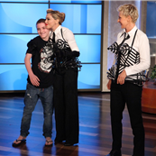 Madonna and Rocco on Ellen 130115