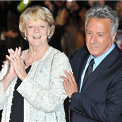 Maggie Smith and Dustin Hoffman at the London premiere of Quartet  129421