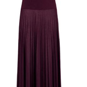 High Waist Pleat Maxi Skirt 120344
