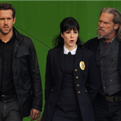 Ryan Reynolds, Jeff Bridges and Mary-Louise Parker filming scenes for the upcoming movie 'R.I.P.D' in downtown Los Angeles 132975