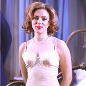 Scarlett Johansson on stage in New York for Cat On A Hot Tin Roof  137454
