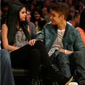 Selena Gomez and Justin Bieber watch the LA Lakers, April 2012 132168