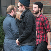 Robert Pattinson leaves his hotel with Tom Sturridge in NYC 128791