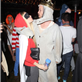 Aaron Paul and fiancé at Maroon 5 Halloween party 131014