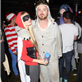 Aaron Paul and fiancé at Maroon 5 Halloween party 131015