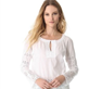 Catherine Malandrino V Neck Embroidered Blouse  120327