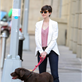 Anne Hathaway walks her dog in Brooklyn 120338