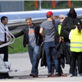 George Clooney, Matt Damon and Grant Heslov departing from Lugano, Switzerland 150586