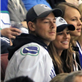 Cory Monteith and Lea Michele at Vancouver Canucks round 1 playoff game 148644