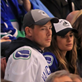 Cory Monteith and Lea Michele at Vancouver Canucks round 1 playoff game 148646