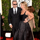 Kevin Costner and Christine Baumgartner on the red carpet at the 70th Annual Golden Globe Awards  136388