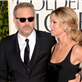 Kevin Costner and Christine Baumgartner on the red carpet at the 70th Annual Golden Globe Awards  136389