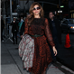 Eva Mendes arrives at The Late Show with David Letterman 119049
