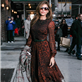 Eva Mendes arrives at The Late Show with David Letterman 119054