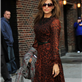 Eva Mendes arrives at The Late Show with David Letterman 119056