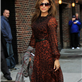 Eva Mendes arrives at The Late Show with David Letterman 119057